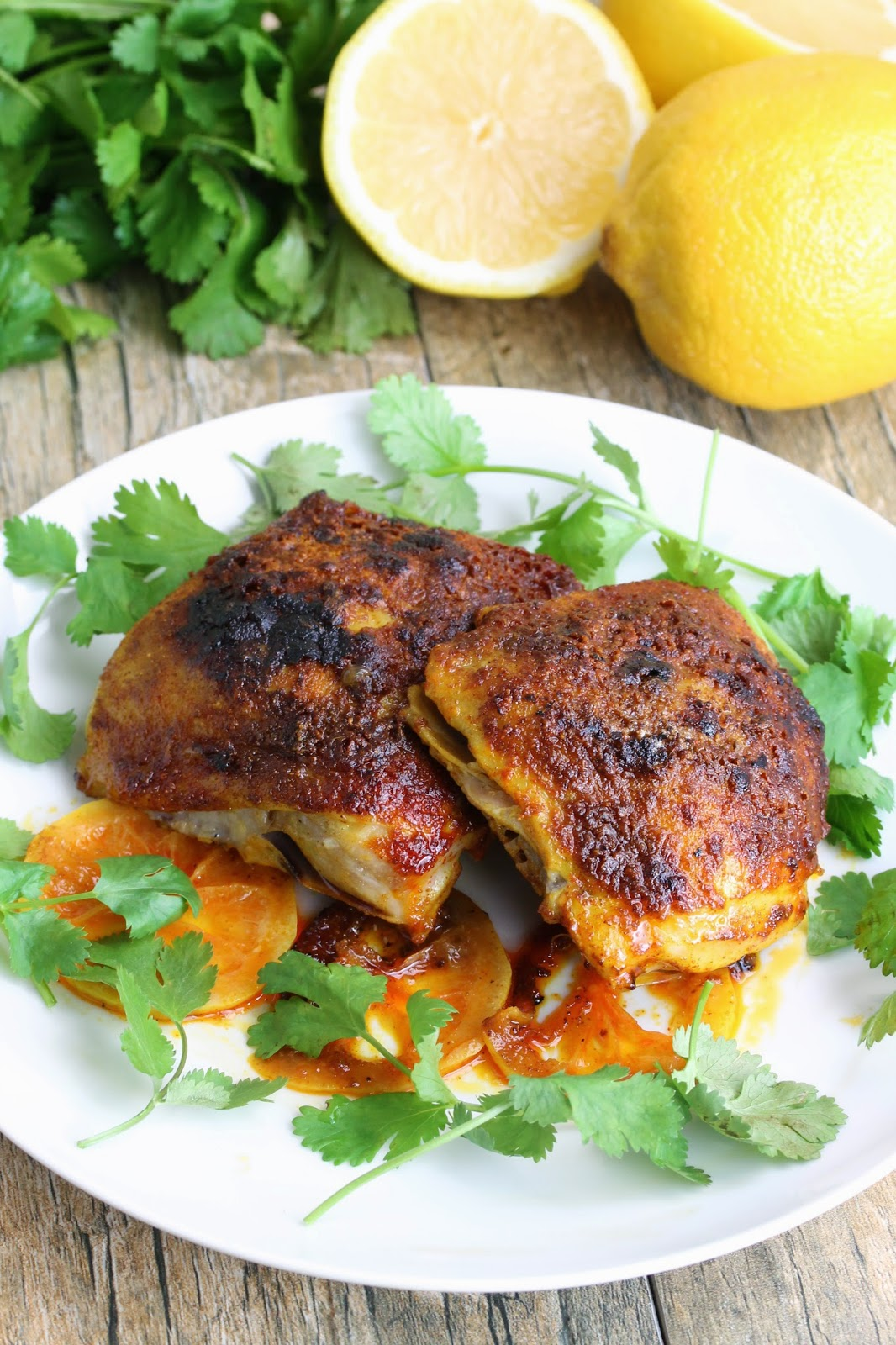 Moroccan chicken thighs this easy dinner recipe for moroccan chicken thighs features spices you probably already have in your forumfinder Choice Image