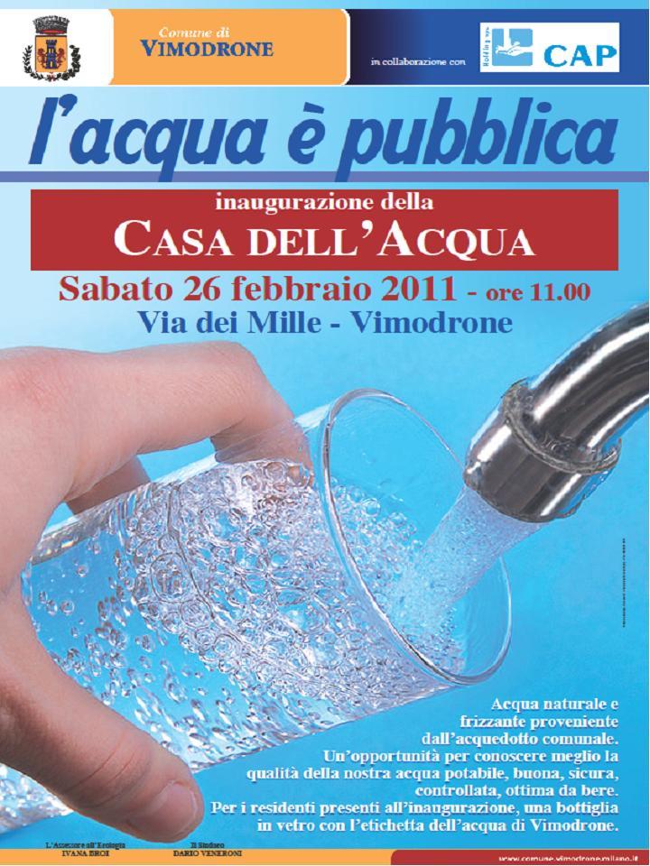 Rifodrone vimodrone la casa dell 39 acqua dal 26 febbraio - Giusta pressione dell acqua in casa ...