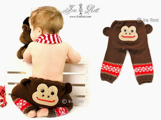 funky butts knitted monkey pants by IraRott