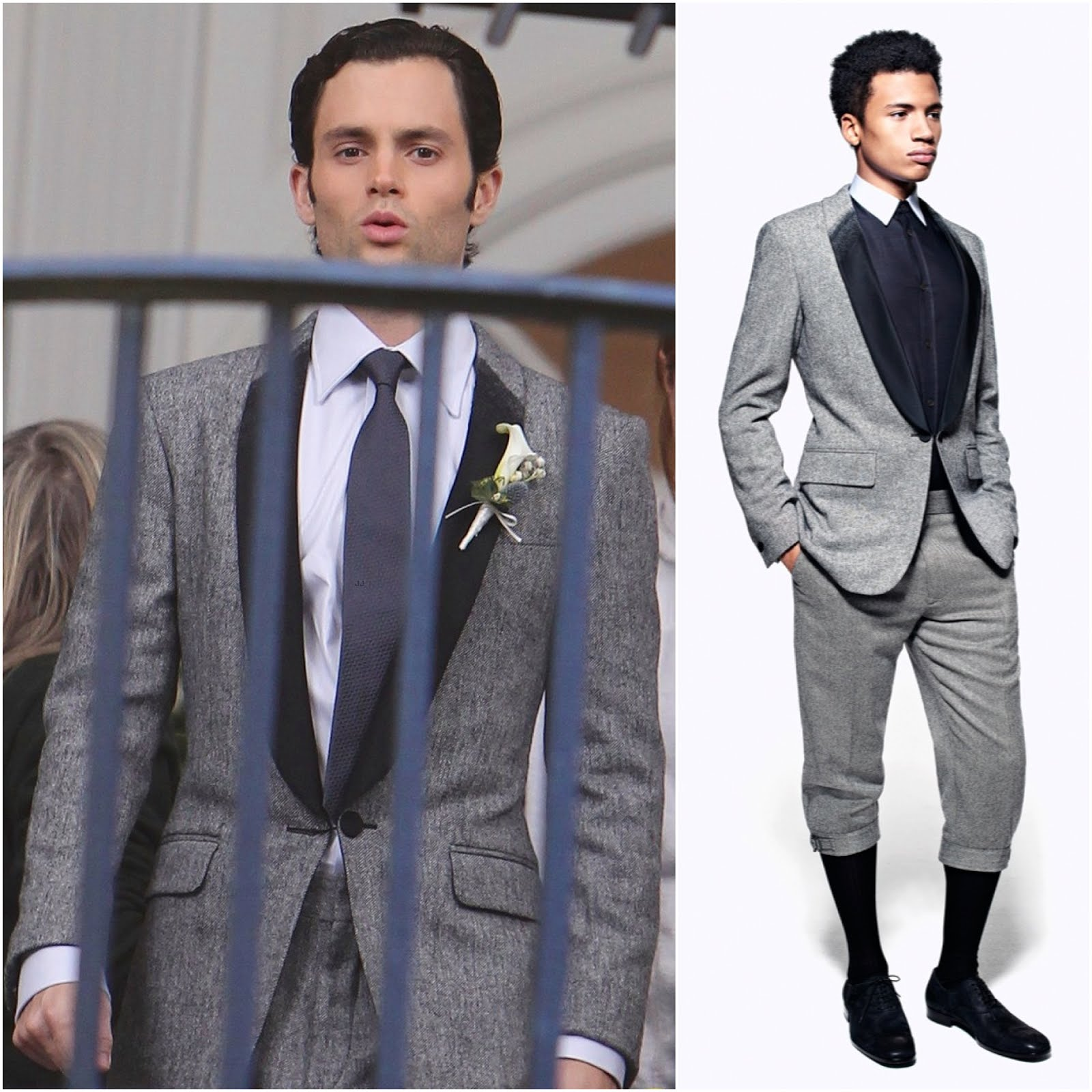00O00 London Menswear Blog Penn Badgley in Alexander McQueen Wool-Blend and Satin-Twill Tuxedo Gossip Girl New York October 2012