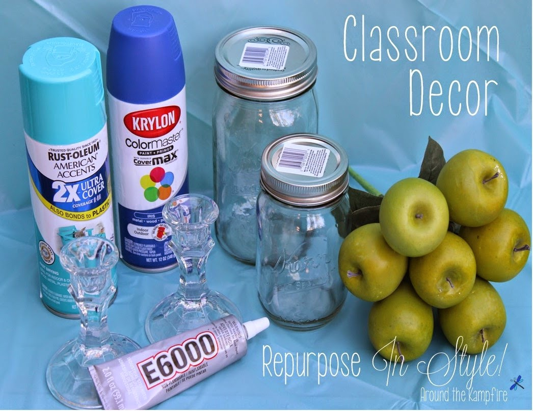 Classroom decor ideas with DIY apothecary jars