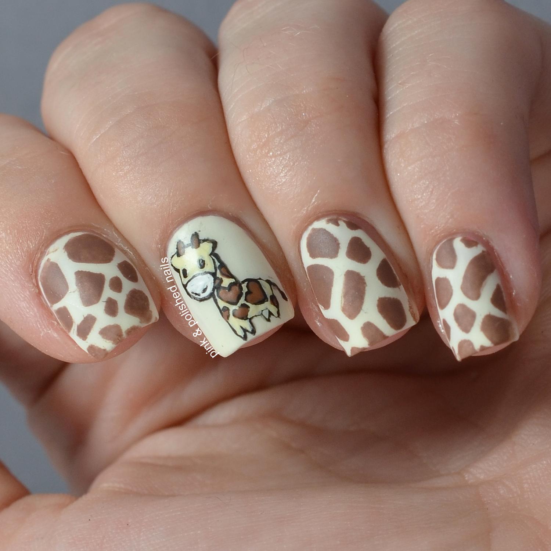 Pink Polished Giraffe Nails