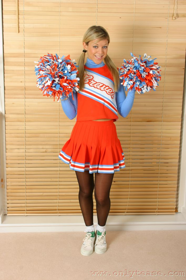 pantyhose cheerleader