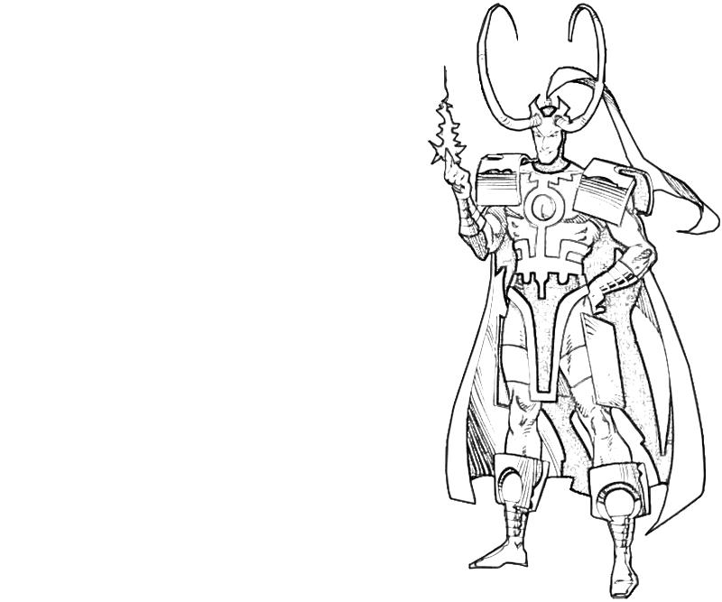 Wand Coloring Page Loki Coloring Pages