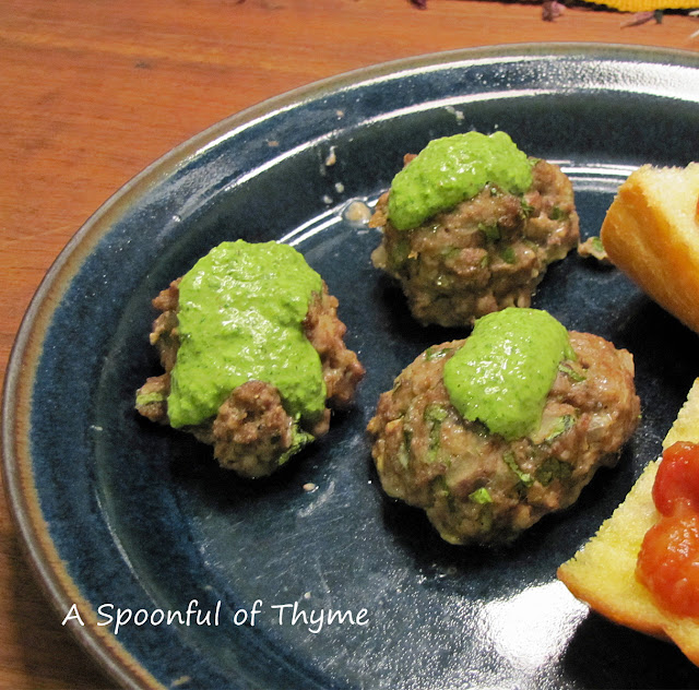 A Spoonful of Thyme: Middle Eastern Lamb Meatballs with ...