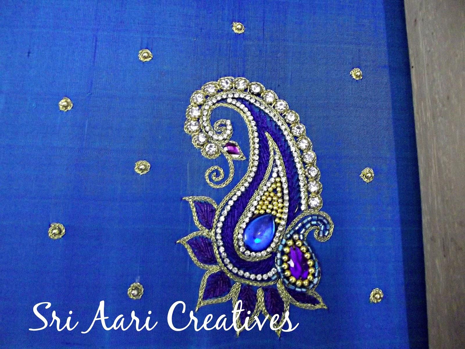 Sri aari creatives trendy designer blouse designs