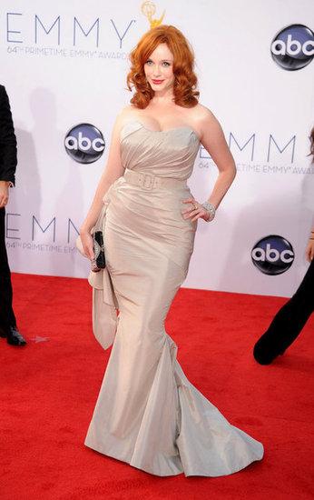Christina Hendriks vestido de Christian Siriano Emmy 2012