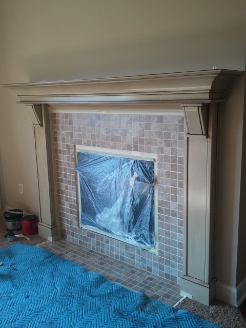 Fireplace tile you can paint it the magic brush inc for Aquabond paint