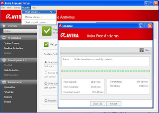 avira antivir personal screenshot