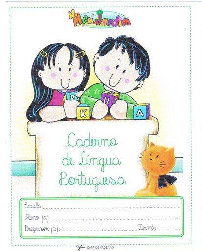 capa de caderno de classe para imprimir