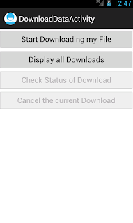 Android DownloadManager Example
