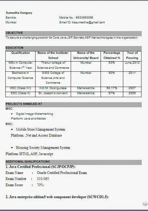 resume sle in marathi search results calendar 2015