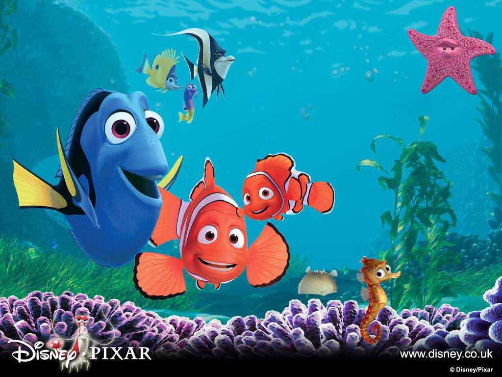 Finding nemo 3d cartoon wallpaper hd cartoon wallpaper for Finding nemo fish