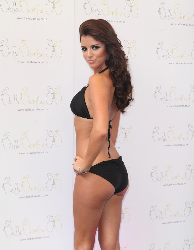Lucy Mecklenburgh black two piece bikini
