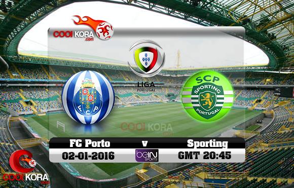 مشاهدة مباراة سبورتينج لشبونة وبورتو اليوم 2-1-2016 في الدوري البرتغالي