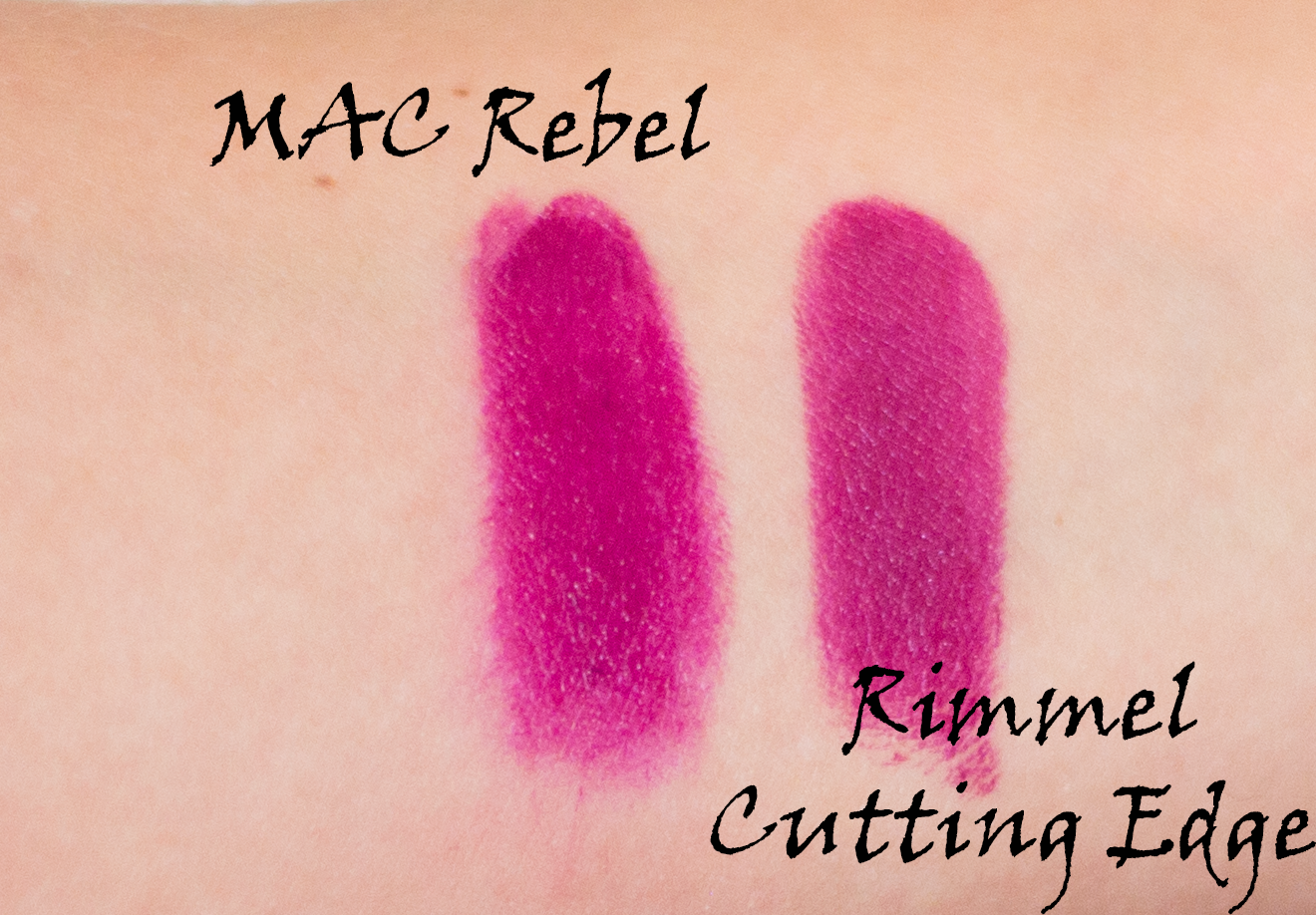 mac rebel dupe drugstore affordable lipstick swatches
