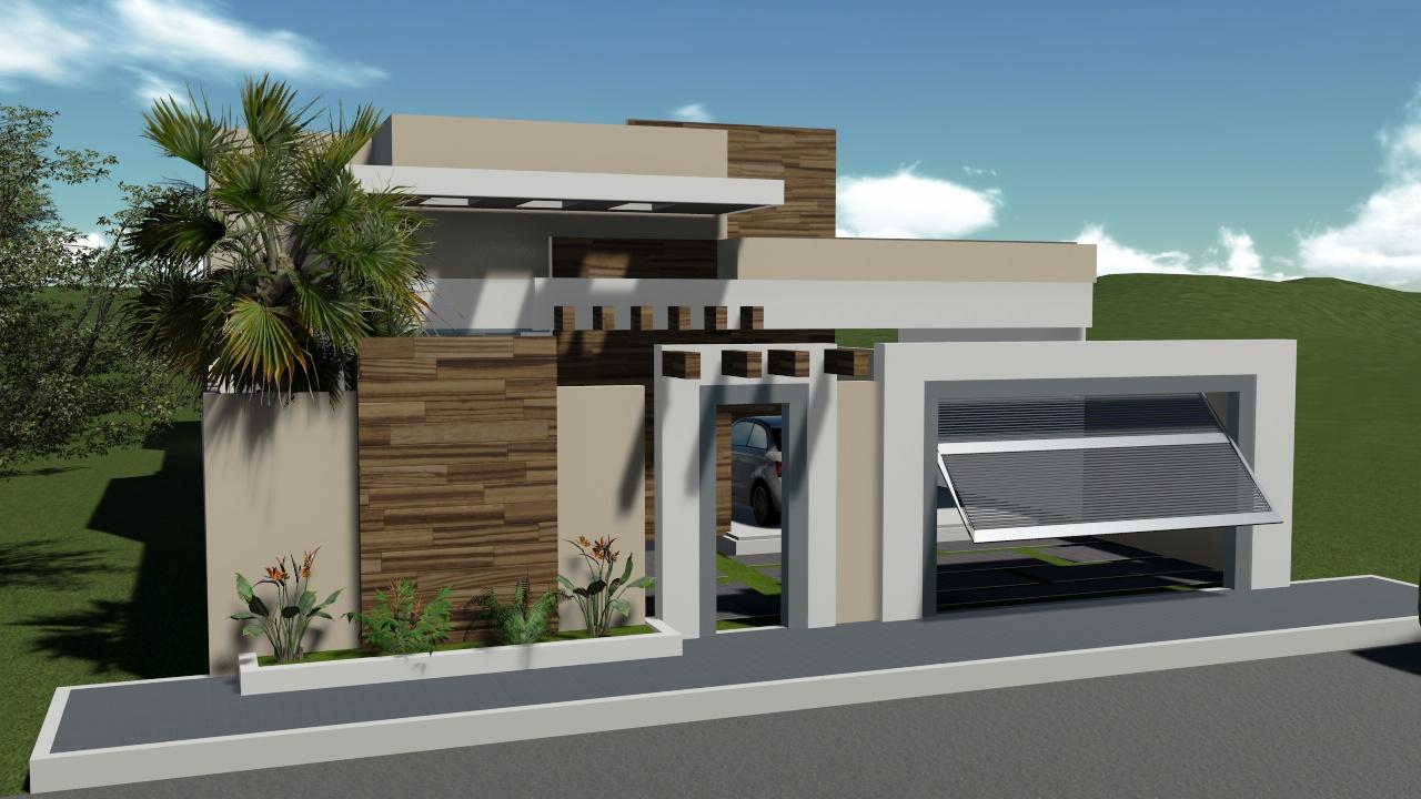 Casa digital casa terrea platibanda cod t01 for Reformas de fachadas en palma