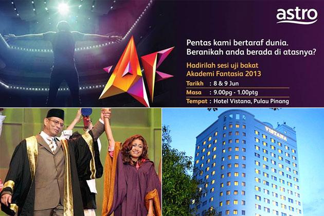 Malaysia, Hiburan, Artis Malaysia, Selebriti, Peluang, menjadi, bintang, Di, Ujibakat, AF 2013, Pulau Pinang