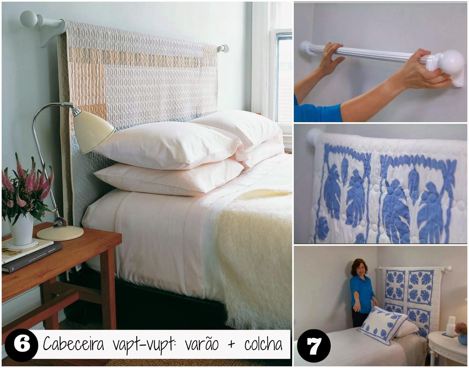 Well-known Casa Montada: 18 ideias para Decorar a cabeceira com tecido BT05