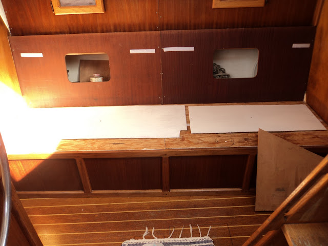 Painting a boat interior