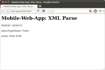 Parse XML using Javascript