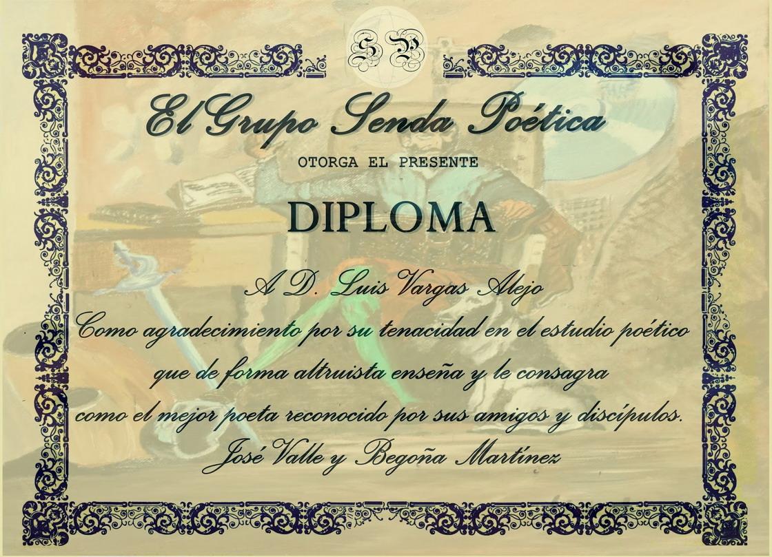 Diploma Senda Poética
