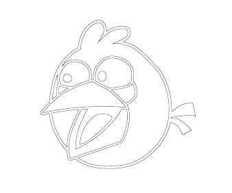 #4 Angry Birds Coloring Page