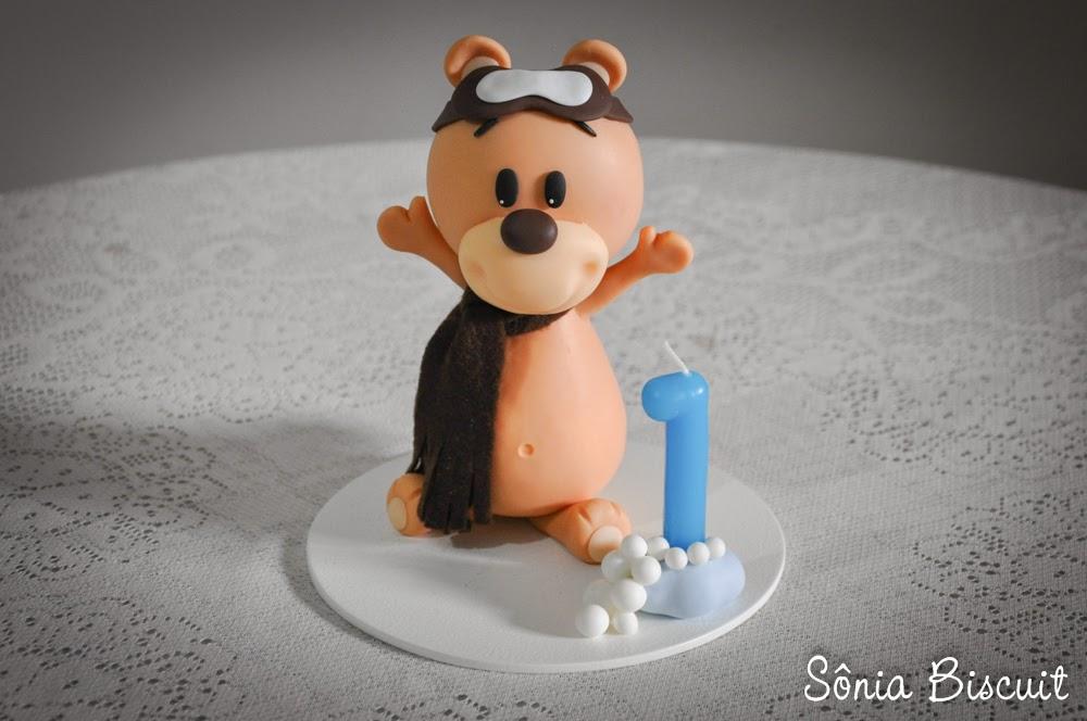 Ursinhos Aviadores Biscuit Aniversário Urso Aviador Ursos Decoração Topo de Bolo
