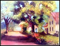 Paisagem - óleo sobre tela 46x38