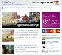 Simple Metro Free Premium Blogger Template