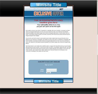 template mini-site web 4
