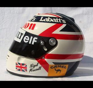 Il casco di Nigel Mansell