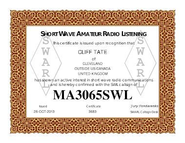 Radio Cerificate