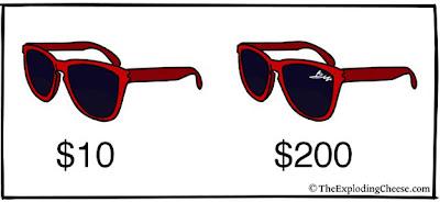 lentes de sol rojas