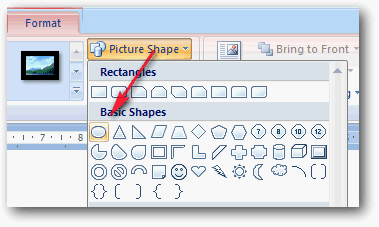 Picture shape ms word