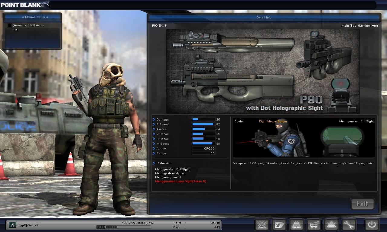 Tips Headshot Senjata P90 Pointblank Indonesia