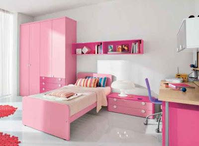 Desain Interior Ruang Tidur Pink Minmalis 03