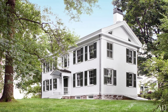 Home interior design an elegant federal style country house for Elegant country homes