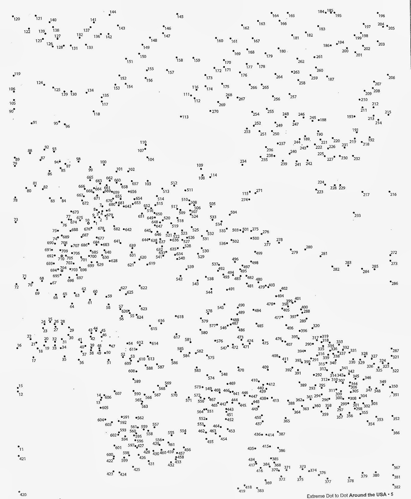 It is an image of Agile Free Extreme Dot to Dot Printable