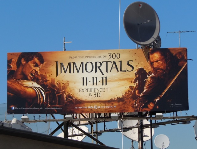 Immortals film billboard