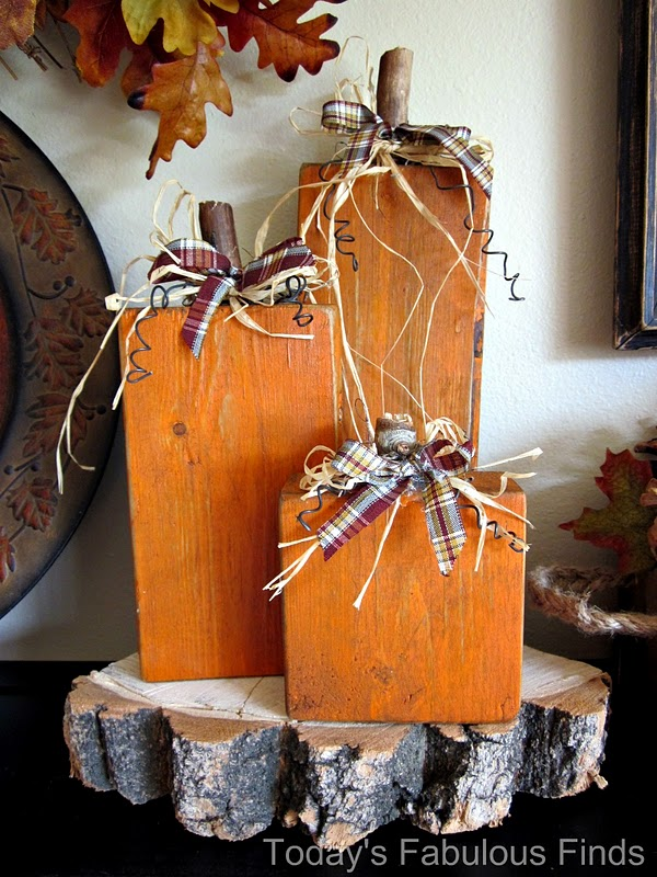 Today 39 s fabulous finds spooky 2x4 pumpkins for Pinterest crafts for home decor
