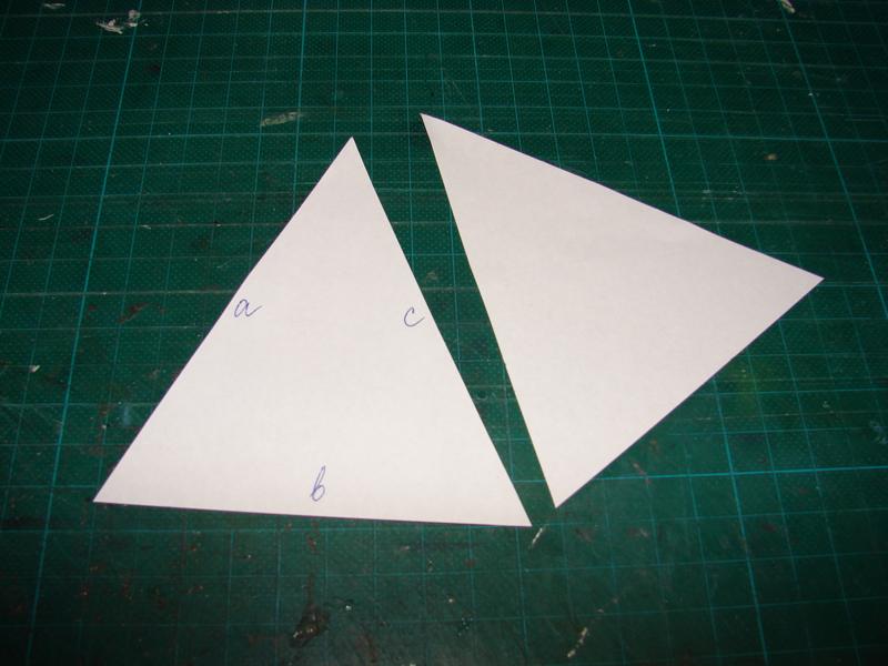 на треугольной форме.