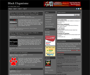 Free Download Black Eleganisme Blogger Template