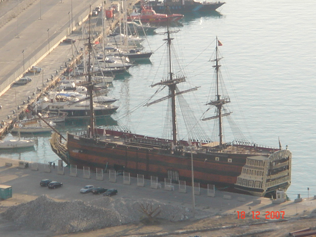 Refurbished Phoenician Ship in Malaga Spain