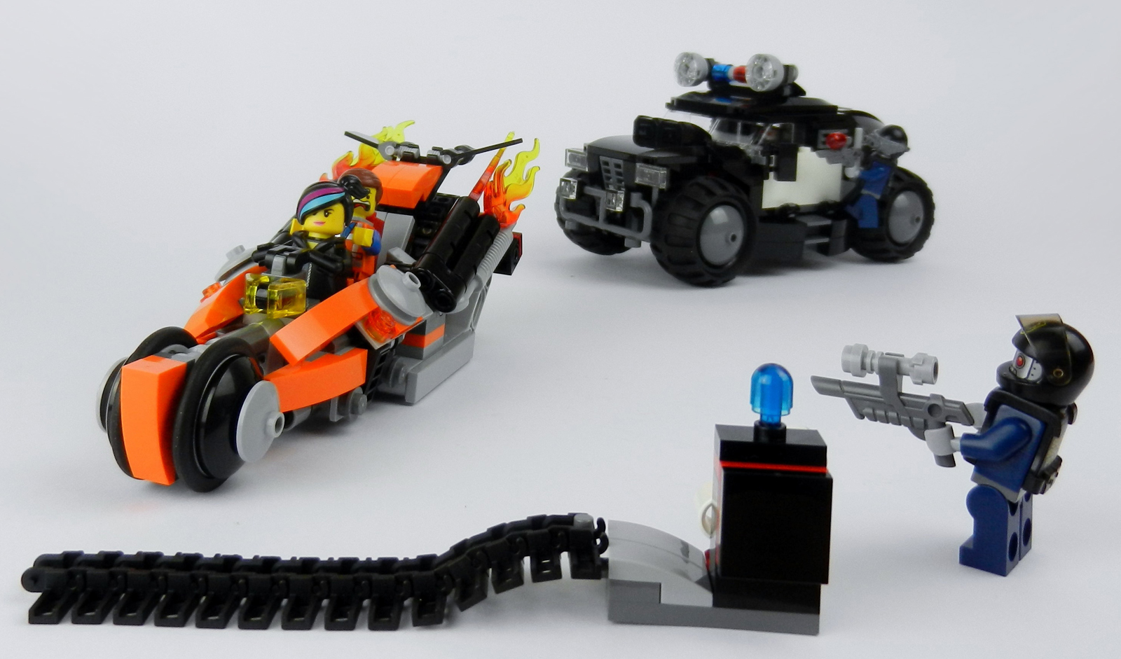 how to make a lego police car with working light