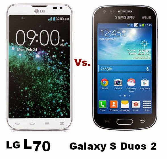 Core Duos vs Core 2 lg L70 vs Galaxy s Duos 2