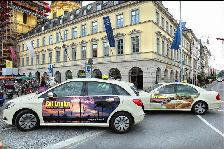 sri lanka tourism 39 s mega taxi advertising campaign in germany select sri lanka holidays. Black Bedroom Furniture Sets. Home Design Ideas