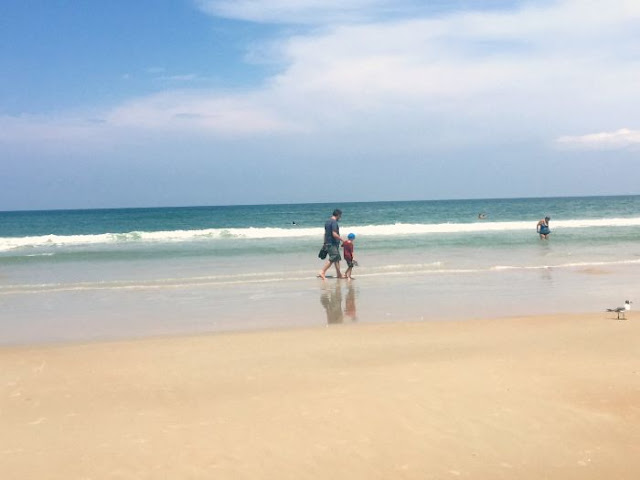 What's So Great About Florida Anyway P2 | Morgan's Milieu: LP and Hubby paddling in the sea at Daytona Beach