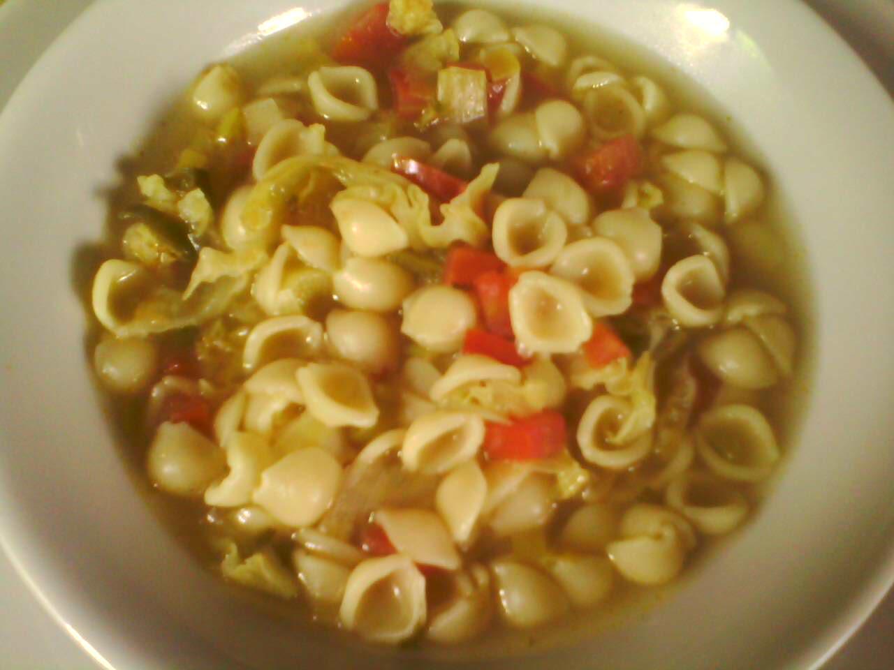 Sopa de conchitas (Conchiglie)