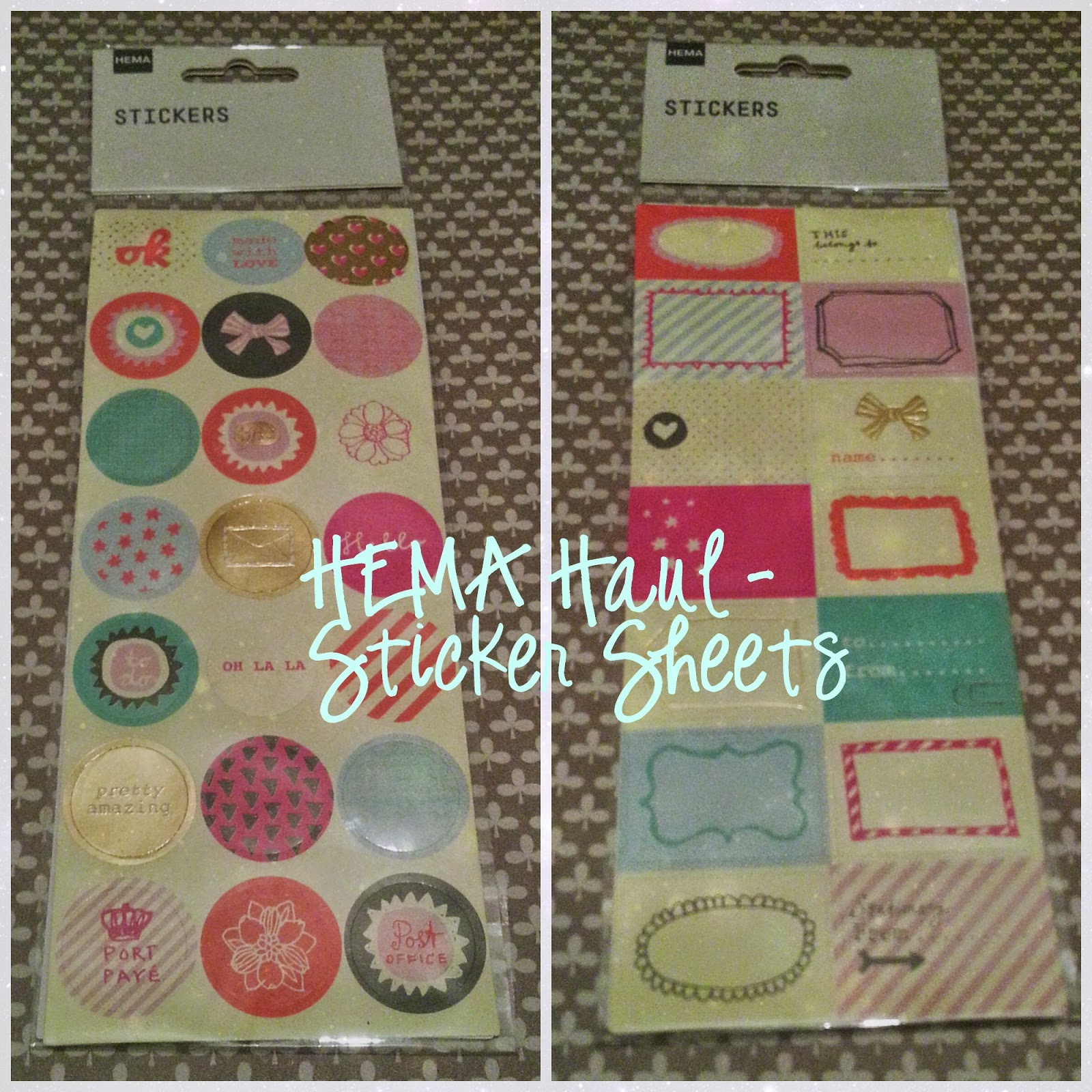 HEMA haul sticker sheets
